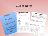 Algebra Linear Equations Guided Notes Homework, and PowerPoint Bundle