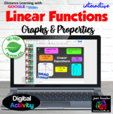 Linear Functions Graphing and Characteristics  with GOOGLE Slides™