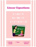 Algebra Linear Equations Review and Test