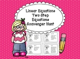 Algebra Linear Equations Two Step Equations Scavenger Hunt