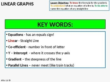 Algebra: Linear Graphs 3 - Finding the Gradient (+ Lots of Resources)