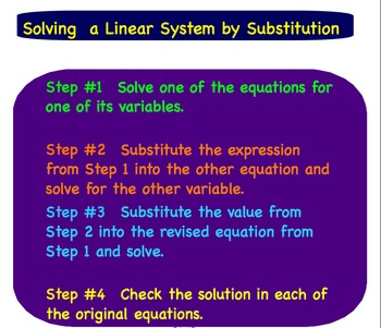Linear System Substitution