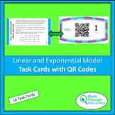 Linear and Exponential Model Task Cards with QR Codes