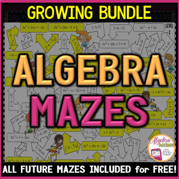 Algebra 1 MAZES (Growing Bundle!)