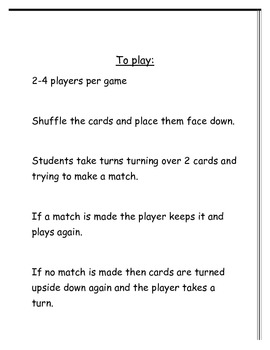 Algebra Match Up Game for Upper Elementary