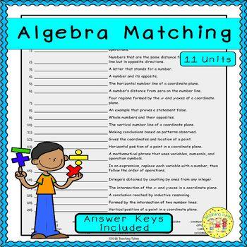 Algebra Matching