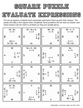 Algebra Math Activities Bundle Puzzles and Riddles