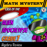 Algebra Review Math Mystery (7th Grade) - Distance Learning