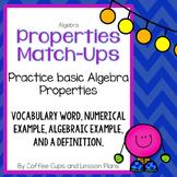 Algebra Math Properties Match-Ups