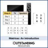 Algebra: Matrices 1 - adding and subtracting matrices plus