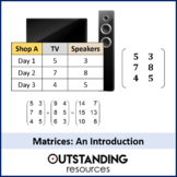 Algebra: Matrices 1 - adding and subtracting matrices plus