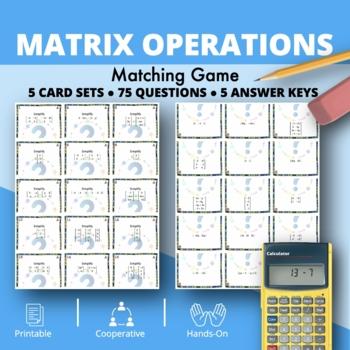 Matrix Operations Matching Game