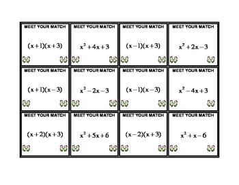Algebra Meet Your Match - Factoring x2+bx+c