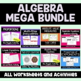 Algebra MEGA Bundle: Activities and Puzzle Worksheets