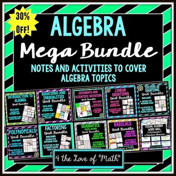 Algebra Mega Bundle {Notes and Activities}