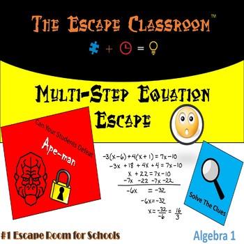 Algebra: Multi-Step Equations Escape Room | The Escape Classroom