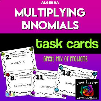 Free Algebra Task Cards | Teachers Pay Teachers