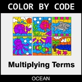 Algebra: Multiplying Terms - Color by Code / Coloring Page