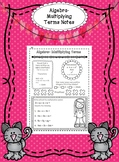 Algebra Multiplying Terms Notes - Interactive, Doodle and