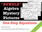 Algebra Mystery Picture: One Step Equations BUNDLE