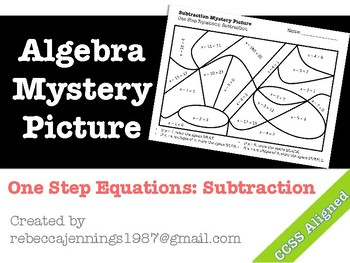 Algebra Mystery Picture: One Step Equations: Subtraction