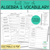 Algebra 1 End of Year Vocab Word Review