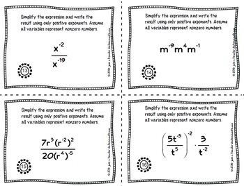 Algebra Negative Exponents