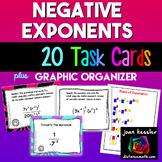 Algebra Negative Exponents plus Graphic organizer