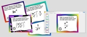 Algebra Negative Exponents with GOOGLE Slides™ Digital Interactive