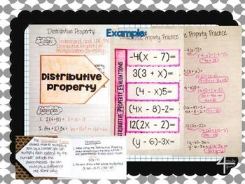 Algebra Notebook Bundle Operations with Rational Numbers
