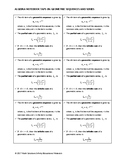Algebra Notebook Tape-In - Geometric Sequences and Series