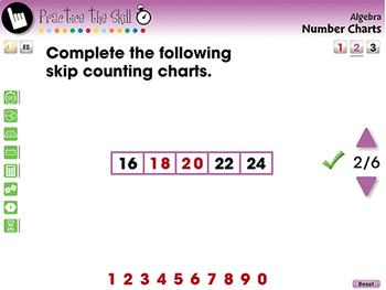 Algebra: Number Charts - Practice the Skill 2 - NOTEBOOK Gr. PK-2