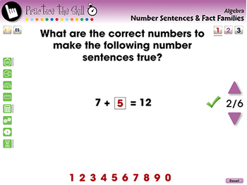 Algebra: Number Sentences & Fact Families Practice the Skill 1 NOTEBOOK Gr. PK-2