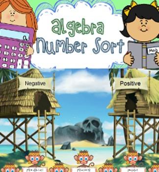 Algebra Number Sort: Smartboard Review Game