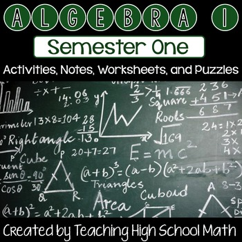 Algebra One Bundle - First Semester (Solving Equations, Lines, Systems)