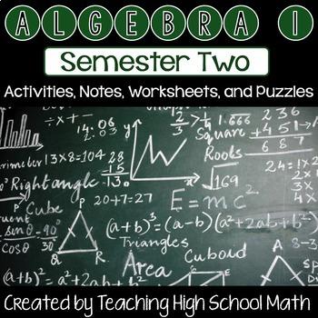 Algebra One Bundle - Second Semester (Radicals, Factoring, Rational, etc)