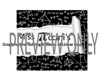 Algebra One - Graphing Linear Equations and Systems of Linear Equations