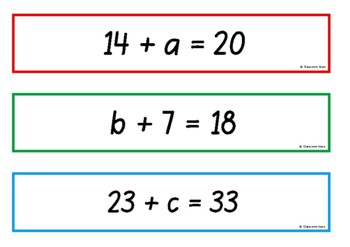 Algebra - One-Step Equations