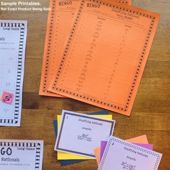 Algebra: One & Two-Step Equations Math Bingo Review Game
