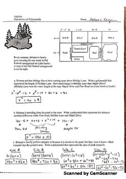 Algebra Operations on Polynomials