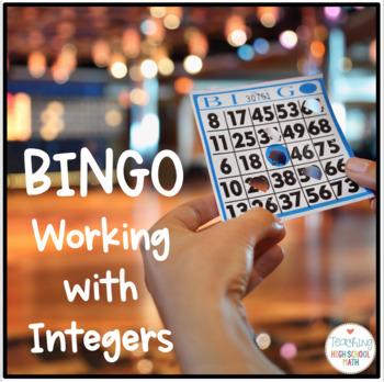 PreAlgebra Algebra Operations with Integers Bingo Game