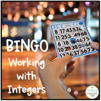 PreAlgebra Algebra Operations with Integers Bingo Game