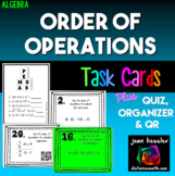 Order of Operations Task Cards QR plus HW and Organizer