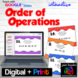 Order of Operations Digital Task Cards with GOOGLE Slides™