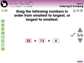 Algebra: Ordering & Grouping - Practice the Skill 1 - MAC Gr. PK-2