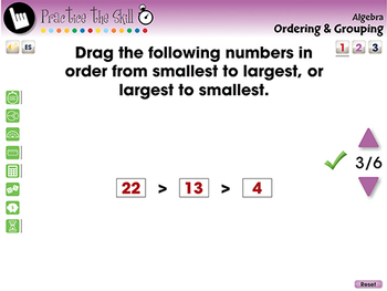 Algebra: Ordering & Grouping - Practice the Skill 1 - NOTEBOOK Gr. PK-2