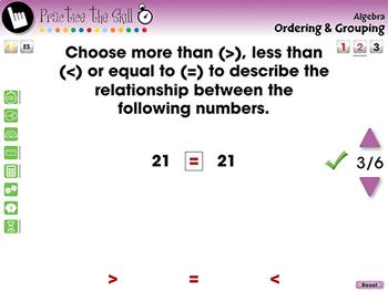 Algebra: Ordering & Grouping - Practice the Skill 2 - NOTEBOOK Gr. PK-2