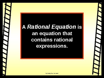 Algebra PP:Rational Equations and working with  WORK, MIXTURE, and COIN problems