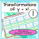 Algebra Parabola Transformations of y = x2 Graphs Match-Up 1