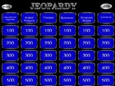 Algebra Patterns Jeopardy Game